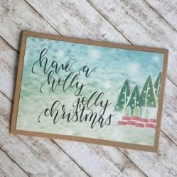 Weihnachtskarte Lettering