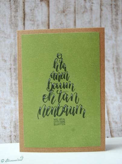 Formenlettering Weihnachtskarte Lettering Inspiration Handlettering