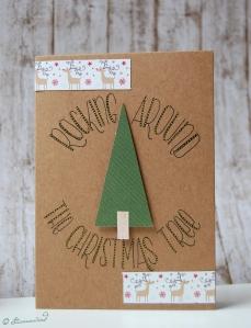 Weihnachtskarte Lettering Inspiration Handlettering im Kreis schreiben