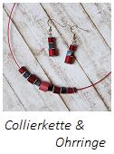 Anleitung Collierkette mit Halsreif und passenden Ohrringen