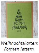 Anleitung Weihnachtskarten lettern Teil 2 - Formen-Lettering