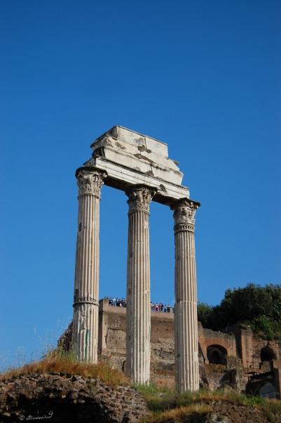 Rom Forum Romanum Aedes Castoris Dioskuren Castor Pollux