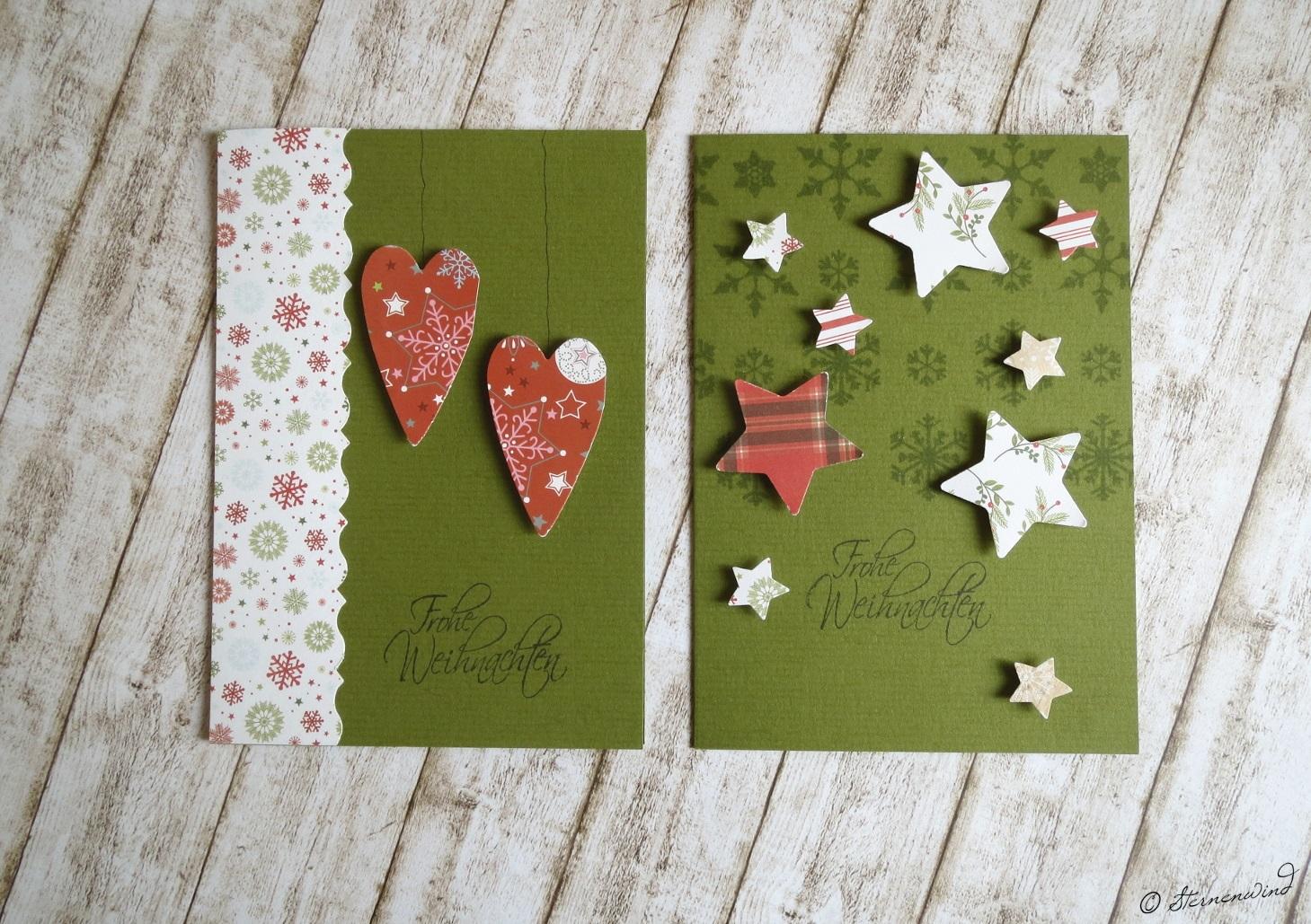 Handlettering Weihnachtskarten grün