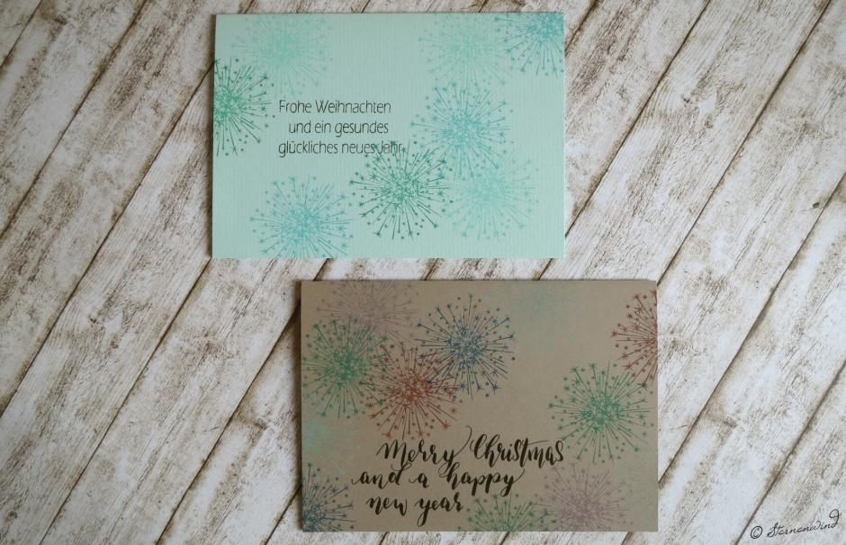Weihnachtskarten Lettering mint