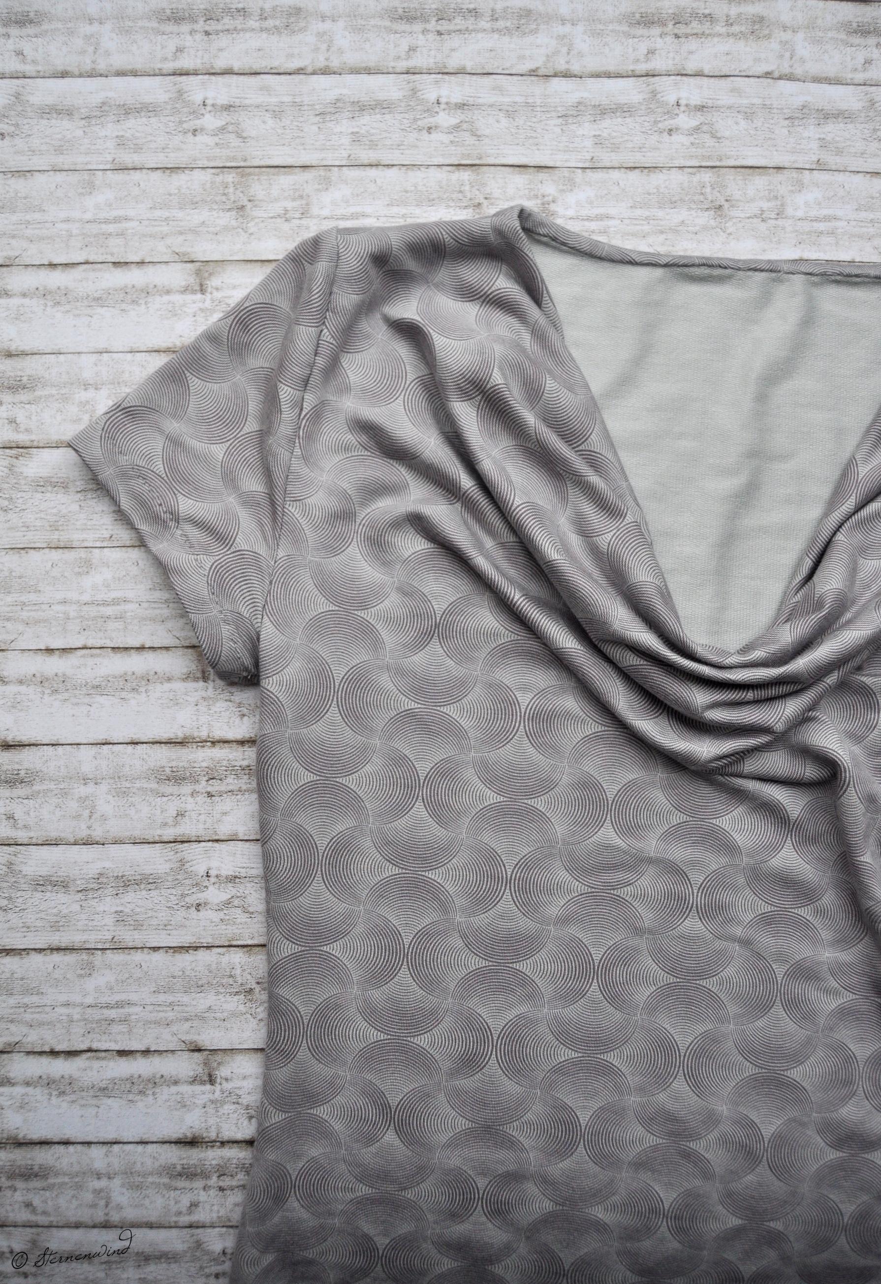 Wasserfall-T-Shirt nähen