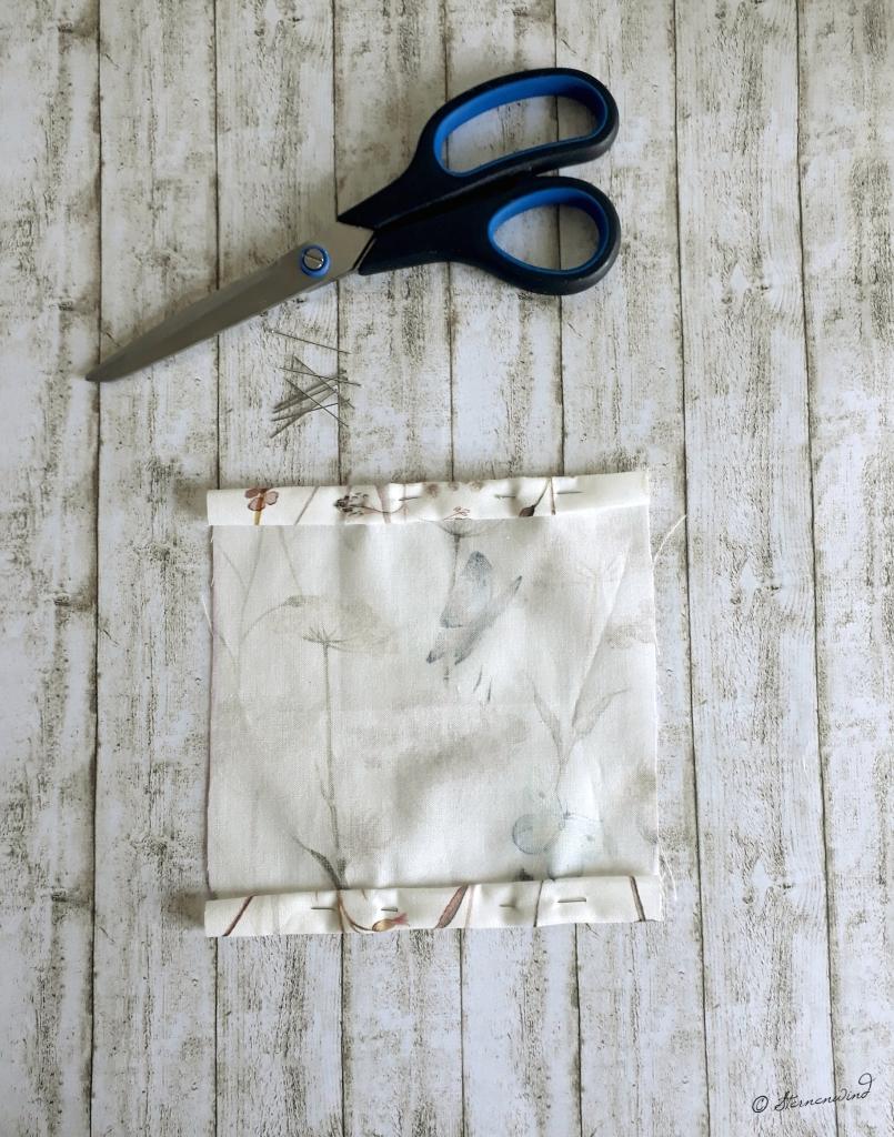Anleitung Taschentücherhülle Kante umschlagen
