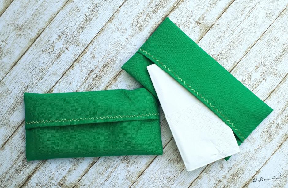 kostenlose Anleitung Taschentücherhüllen nähen